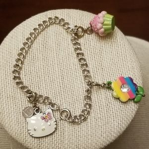 Sterling Silver Hello Kitty Bracelet